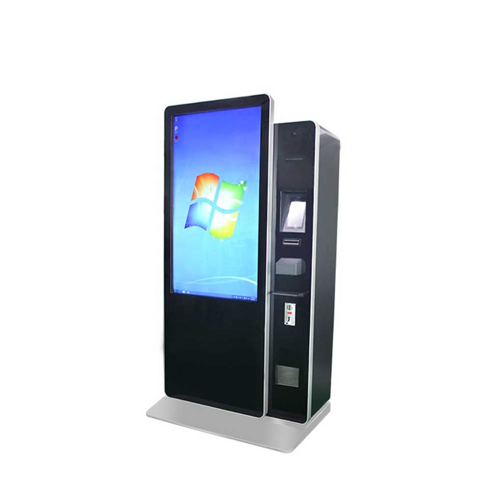 49 inch touch screen automatic cash and coin self-service payment kiosk