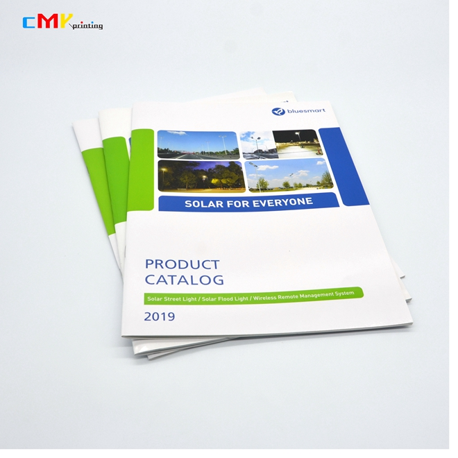 customized cheap a4 color catalog printing professional LED light catalog printing service