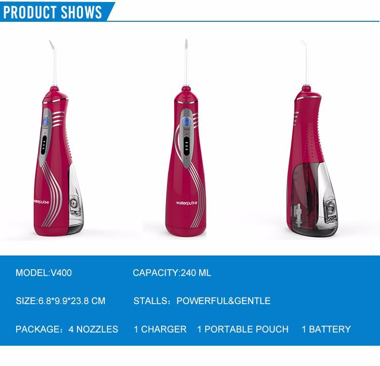 multiple colour oral irrigator cordless dental flosser portable water flosser. Black Bedroom Furniture Sets. Home Design Ideas