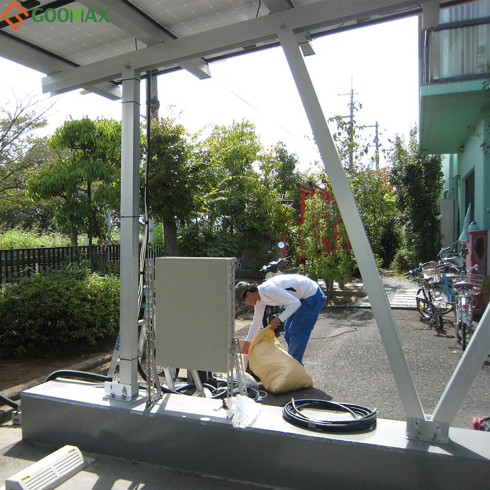solar carport met goedkope concurrerende prijs hoge kwaliteit