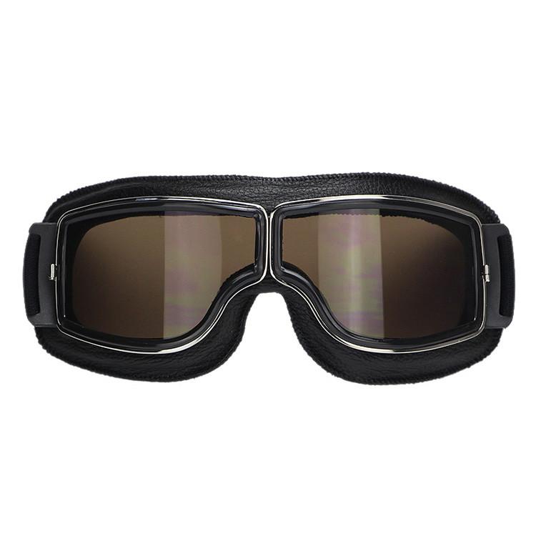 2016 Venda Quente Preto Quadro Do Vintage Harley Estilo Óculos de Proteção  Da Motocicleta Moto Piloto Óculos Retro Jet Capacete Eyewear 4 lente cor 1f4f74e350