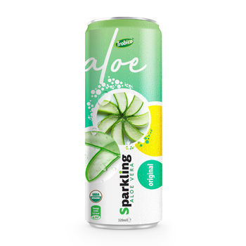 New Series 320ml Canned Original Sparkling Aloe Vera Juice Drink