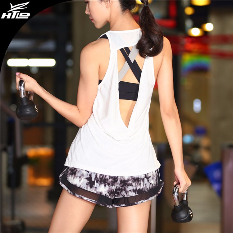 Stock Wholesale Back hollow gym <strong>Sports</strong> mesh wear women running fitness machines training yoga Vest