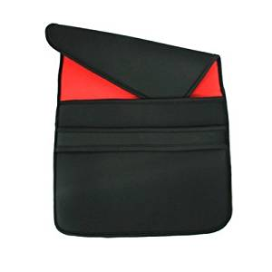 "Premium 17"" Notebook Laptop Flip Sleeve Pouch Case for Toshiba Satellite P775-S7320 Black / Red -"
