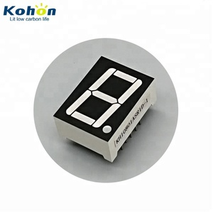 0.8 inch 20 mm super red common cathode 1 digit 7 segment led display for time display panels
