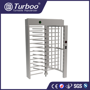 Turboo standard G535: semi-automatic secure passway portals full height turnstile with latest technology