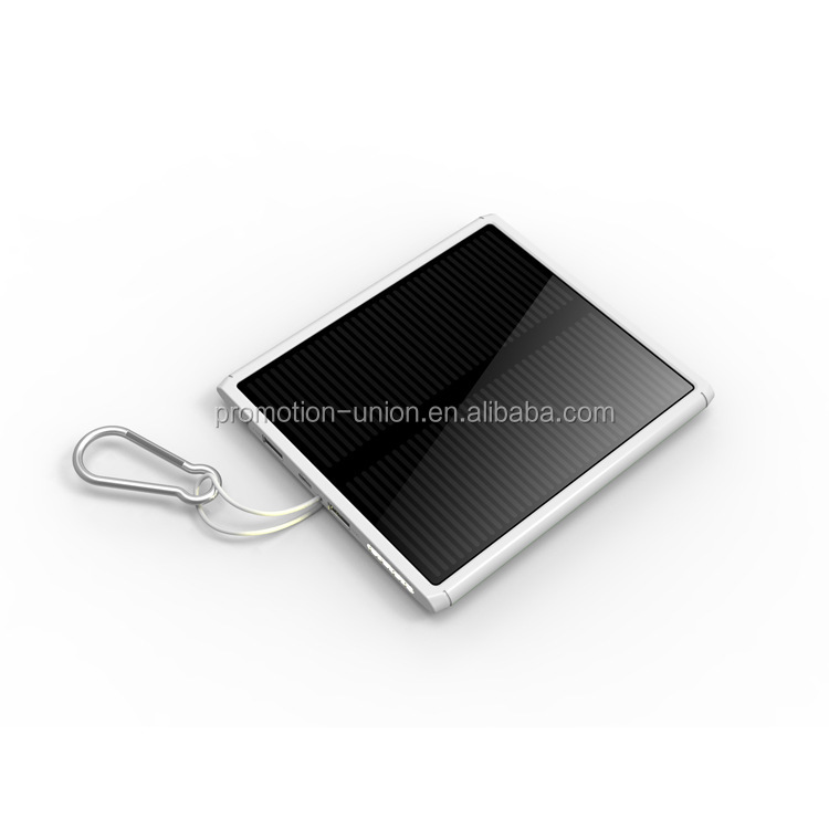 15000mah solar power slim panel portable bank for iphone