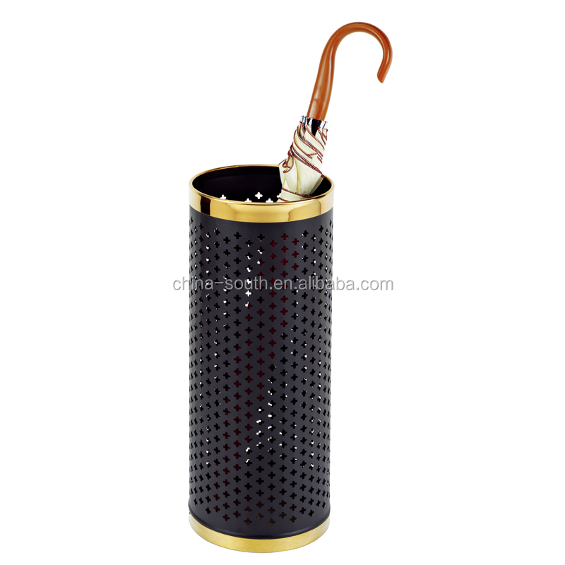Metal mesh hole cheap price wet umbrella stand holder/decorative umbrella barrel
