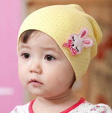 2014 Lovely Baby Rabbit  Hats and Caps Kids Boy Girl Crochet Beanie Hats Winter  Autumn Cap For Children To Keep Warm