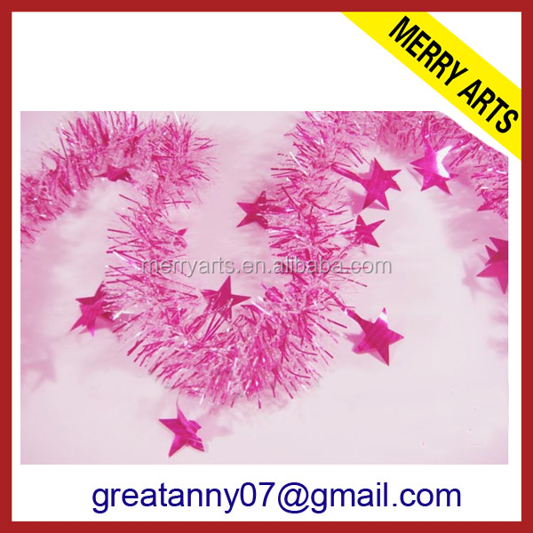 China wholesale red string tinsel garland machine for christmas