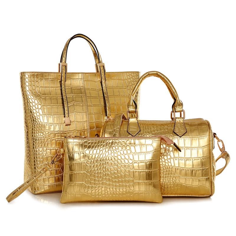 e04d533e06 8859 set bag Women Handbag Set 3 Pieces Bag PU Leather Tote Small Shoulder  Bag