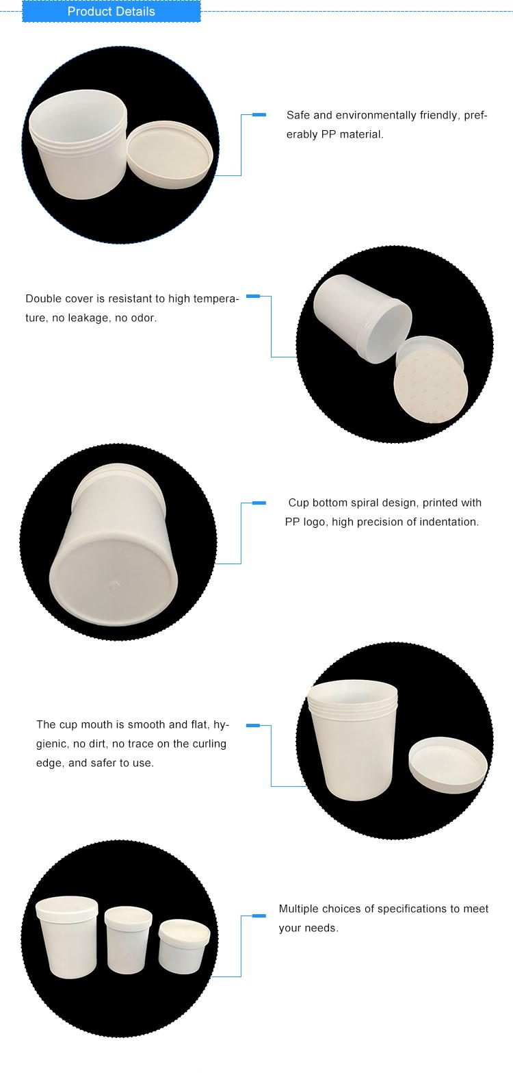 Kleine weiße Kunststoffeimerhersteller