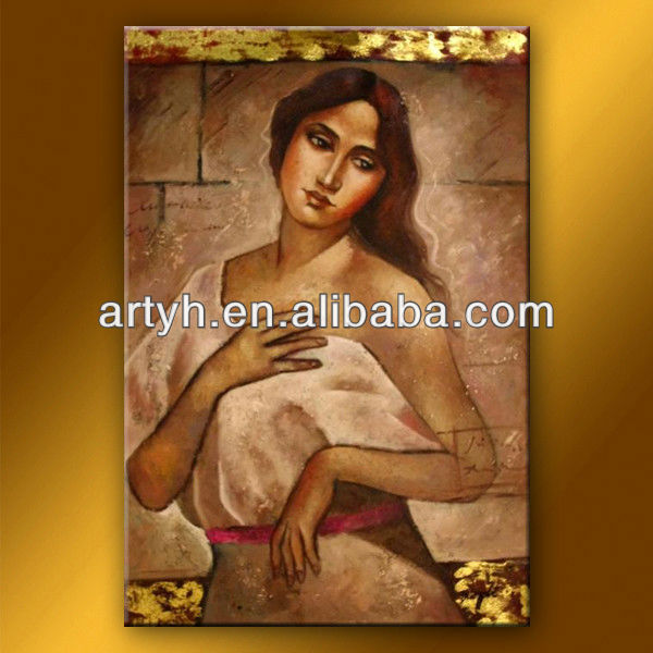 Modern portrait nude women oil painting on canvas for wall decor