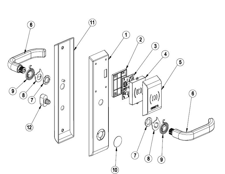 hotel door lock types. New Type Hotel Smart Card Door Lock,Bluetooth Lock Types T