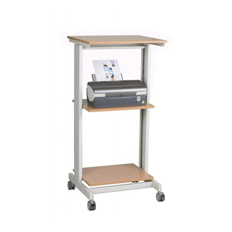 Office computer printer desk adjustable height computer desk table with wheels/workstation