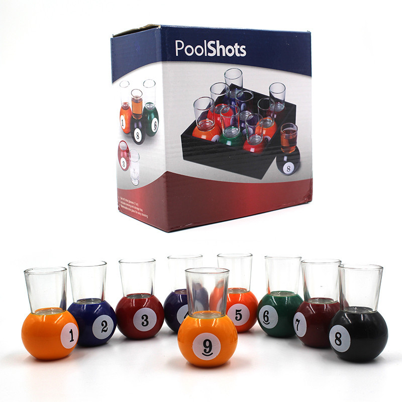 Mini Pool table pool drinking water glass game set, Wholesale Pool Table