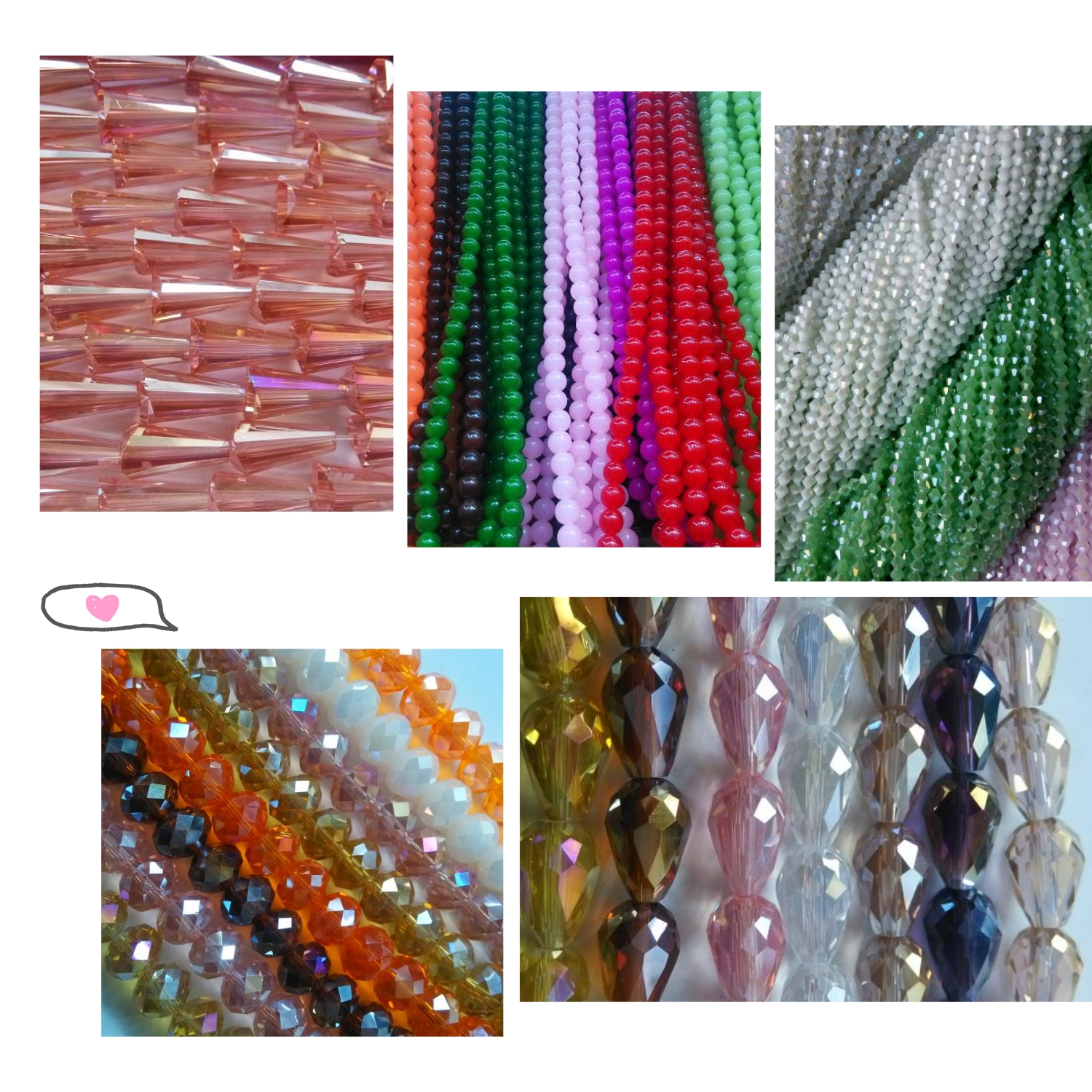 6mm Mixed  Crystal Square Beads Glass Cube Faceted Bead  for DIY Making Ring