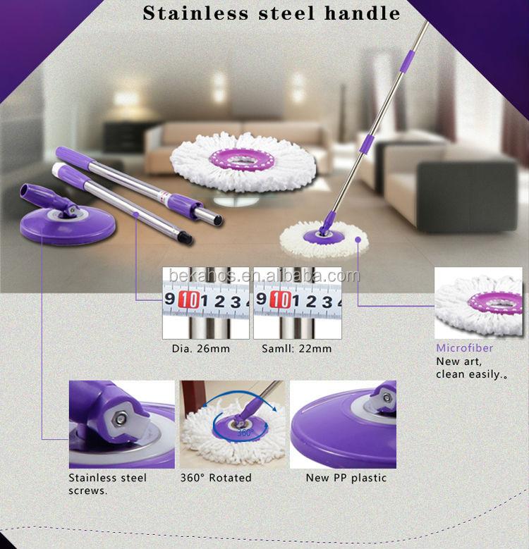 bekahos magic spin mop bucket stainless steel basket easy mop floor cleaner m02