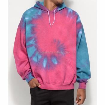 All Over Tie Dye Colors Pullover Hoodie Fleece Lining 50% Cotton 50%  Polyester Sweatshirt Custom Design - Buy Tie Dye Pullover Hoodie,Fleece  Hoodies ...