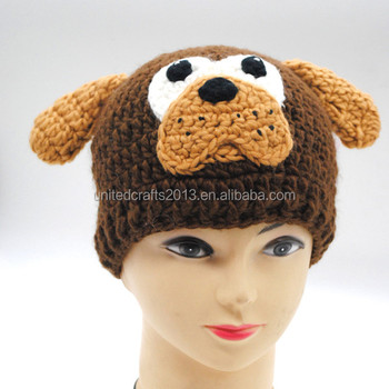 Kids Hand Knitted Woolen Caps Hip-hop Style Pug Modelling Hat - Buy ... 54a30a4c811