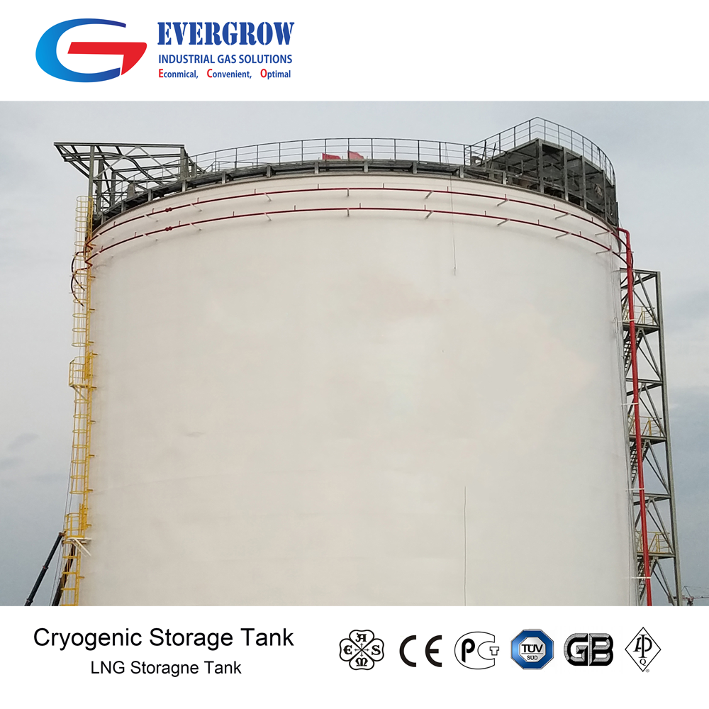 Grote Schaal LNG Platte Bodem Crygenic Tank