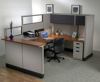 Modern Style Office Reception Cubicle In Aluminium Partitions - Buy ...