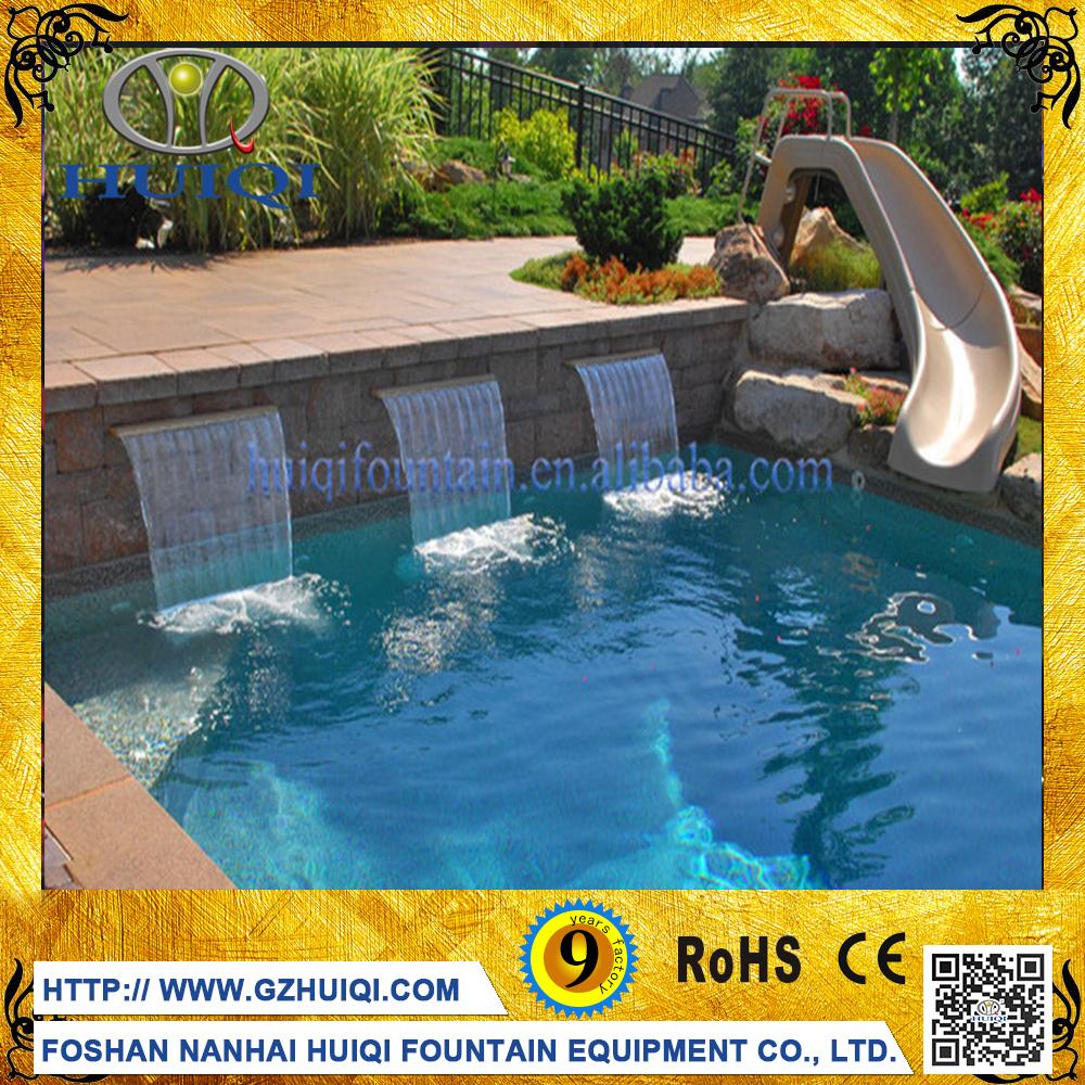 Koop goedkope kleurrijke waterval vloer fontein decoratieve zwembad water fonteinen outdoor - Outdoor decoratie zwembad ...