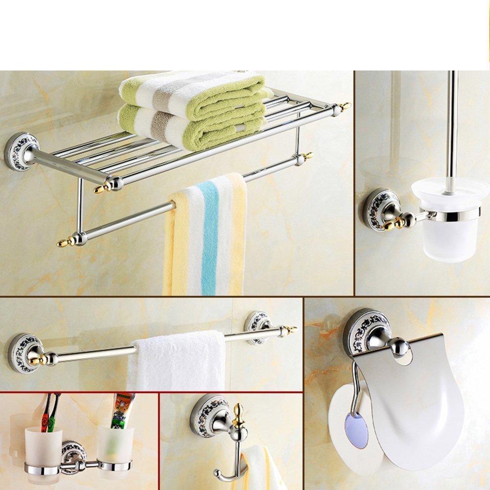 Buy Blue and white porcelain fashion bath towel rack antique towel ...