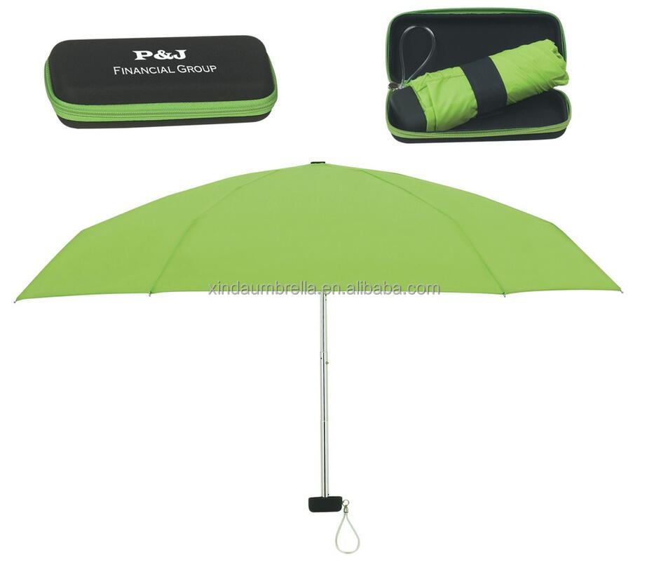 UV sun pro tection 5 foldable umbrella for gifts and promotion with case super mini umbrella