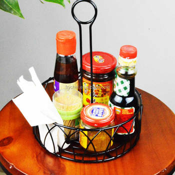 table condiment holder metal wire condiment holder kitchen condiment caddy supply - Condiment Caddy