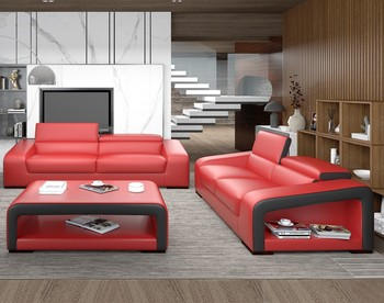 Red Color Chinese Leather Furniture Cheap Price 123 Sofa Set For Home   Buy  Red Color Sofa,Leather Furniture,Cheap Price Sofa Product On Alibaba.com