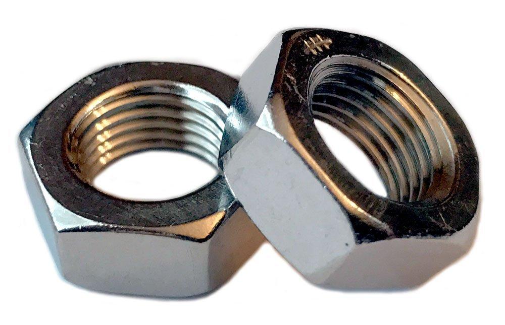 Qty 100 5//16-24 Hex Jam Nylon Insert Lock nut Nylock Stainless Steel Half Height