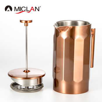 Stainless Steel Copper Coffee Maker French Press