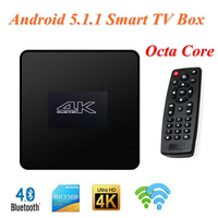 Hot selling IPTV Box RK3368 8 Core 64bit T052 Android 5.1 1/2GG+8/16G Fully Loaded XBMC TV Box built-in LCD Clock