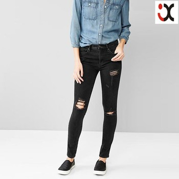 New Fashion Jeans Pants Cheap Women Ripped Skinny Jeans,Ripped ...