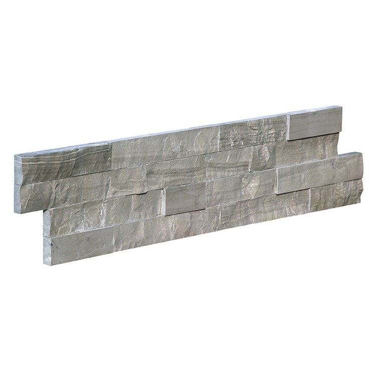 Custom made chinese grey culture stone corner athens brown tile