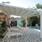 Waterproof Pergola Motorized Sunshade Awnings Retractable Roof with PVC Fabric
