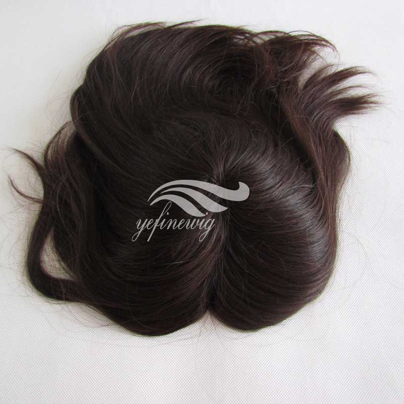 High Quality Brown Human Hair Topper Wig