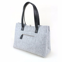Non woven polyester felt bag lady hand bag for Christmas gift