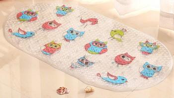 Beixiduo Non Slip Bathtub Mat Kids Cute Shower Mats Anti Slip Natural  Rubber Mildew
