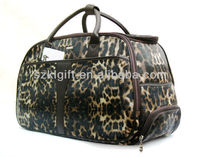 2013 Shenzhen Leopard Travel Trolley Luggage Bag with PU Leather,New Fashion High Quality Hybird Tote Bags