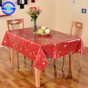 Factory Directly Christmas Paper Oilcloth Tablecloth Roll And Runner Sets