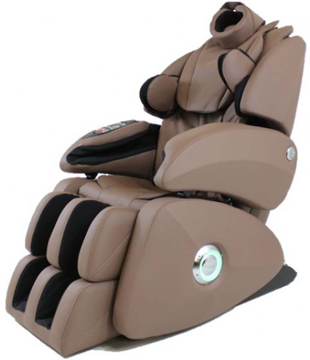 Osaki OS-7075R (Taupe) Total Heated Massage Chair With BONUS 800 Page Stress Management & Relaxation Bundle. Executive ZERO GRAVITY, 4 Roller S-Track, Designed with a set of intelligent massage robot, special focus on the neck, shoulder and lumbar massage according to body curve. Thai style body