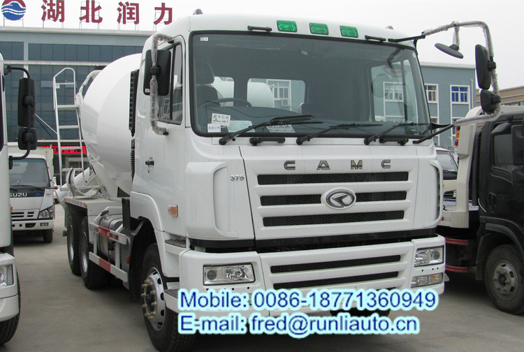 Factory supplied new condition CAMC 6X4 8-10 cbm cement mixer truck low price for sale