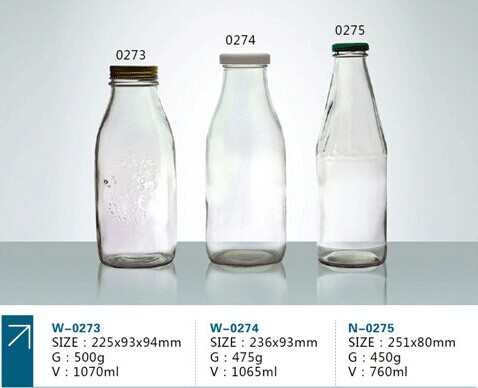 300ml Clear Glass Milk Bottles With Natural Caps Buy