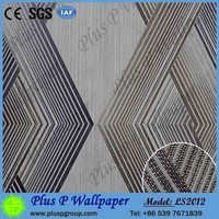 Plus P factory 3d pvc wallpaper/pvc embossed wallpaper