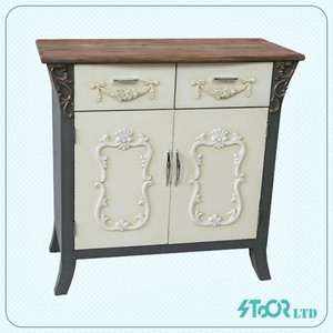 High Quality Fir Wood Round Cabinet Wooden