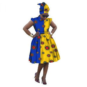 Summer Dress African traditional Dashiki for woman Bazin Riche elegant Africa Wax Ball Gown Dress Plus Size none WY448