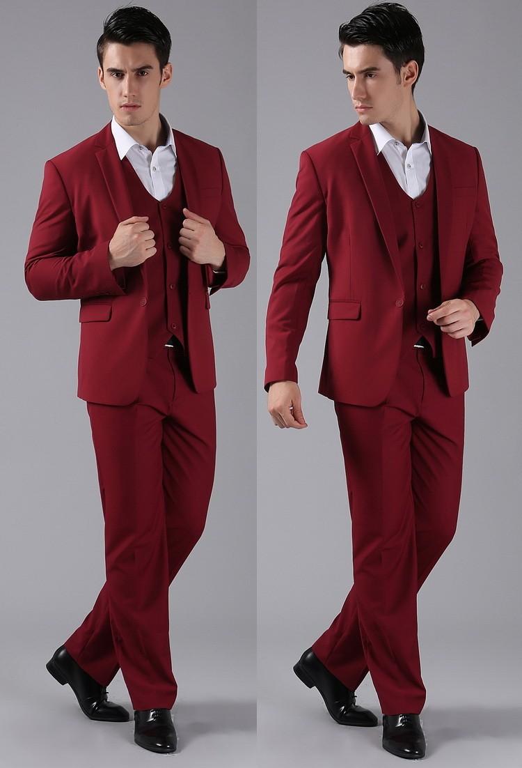 (Kurtki + Spodnie) 2016 Nowych Mężczyzna Garnitury Slim Fit Niestandardowe Garnitury Smokingi Marka Moda Bridegroon Biznes Suknia Ślubna Blazer H0285 75