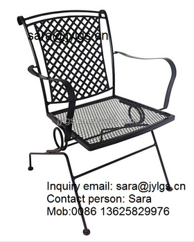 Wrought Iron Stacking Spring Motion Chair   Buy Coil Spring Chair,Wrought  Iron Dining Chairs,Wrought Iron Bistro Chair Product On Alibaba.com